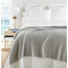 """Crafted by Catherine 60"""" x 70"""" Cozy Waffle Knit Throw (Assorted Colors)"""