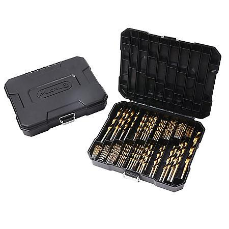 Tactix 180-Piece Titanium-Coated Drill Bit Set