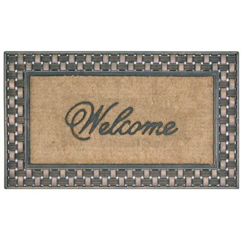 Bacova Koko Framed Basketweave Welcome Estate Mat