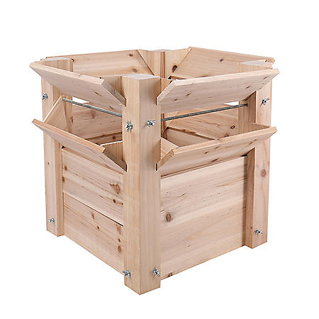 """25""""L Raised Bed Wooden Planter"""
