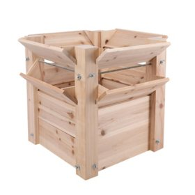 "25""L Raised Bed Wooden Planter"
