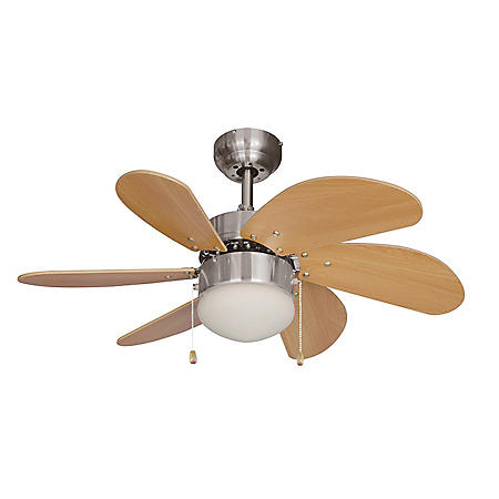 "Hardware House Monterey 30"" Ceiling Fan - Satin Nickel Finish"