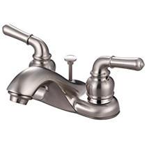 Hardware House 2 Handle Bathroom Faucet w/ Satin Nickel Finish
