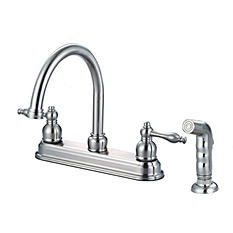 Hardware House 2-Handle Bismark Kitchen Faucet w/ Sprayer
