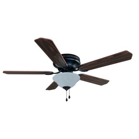 "Hardware House Jupiter 52"" Flush Mount Ceiling Fan - Oil-Rubbed Bronze"