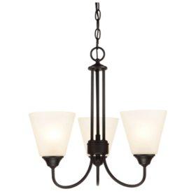 Hardware House Galveston 3-Light Chandelier - Black