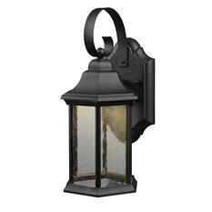 Hardware House Wall-Mounted LED Lantern - Textured Black
