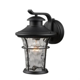 Hardware House Wall-Mounted Dusk-to-Dawn Lantern - Textured Black