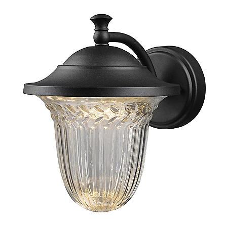 Hardware House Medium LED Lantern with Crystalline Glass - Textured Black