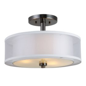 Hardware House El Dorado Semi-Flush Ceiling Light Fixture - Ebony Glaze