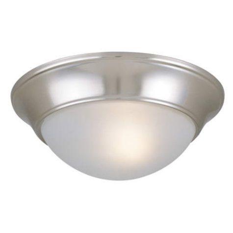 Hardware House 2-Light Ceiling Light - Satin Nickel/Chrome