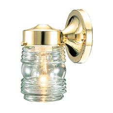 Hardware House Jelly Jar Wall Light - Polished Brass
