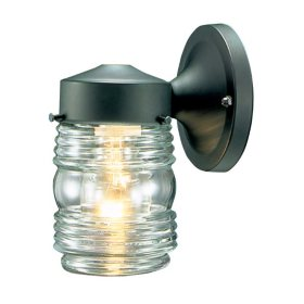 Hardware House Outdoor Jelly Jar Light - Black