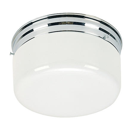Hardware House 2-Light Ceiling Fixture - White