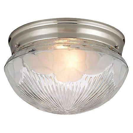 Hardware House 2-Light Ceiling Light - Satin Nickel