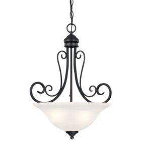 Hardware House Tuscany 3-Light Chandelier - Textured Black