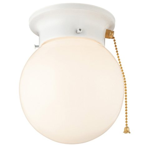 Hardware House Light with Pull Chain - White