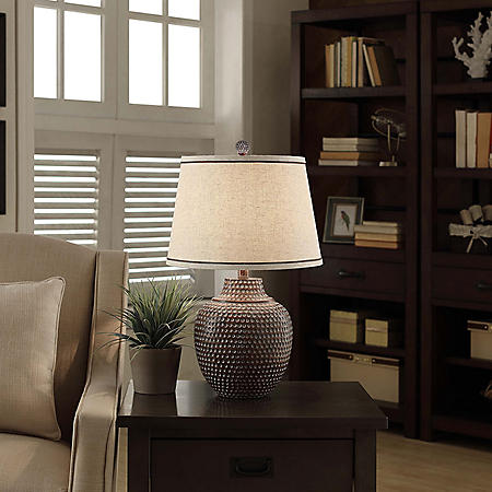 Carlin Collection Hammered Table Lamp