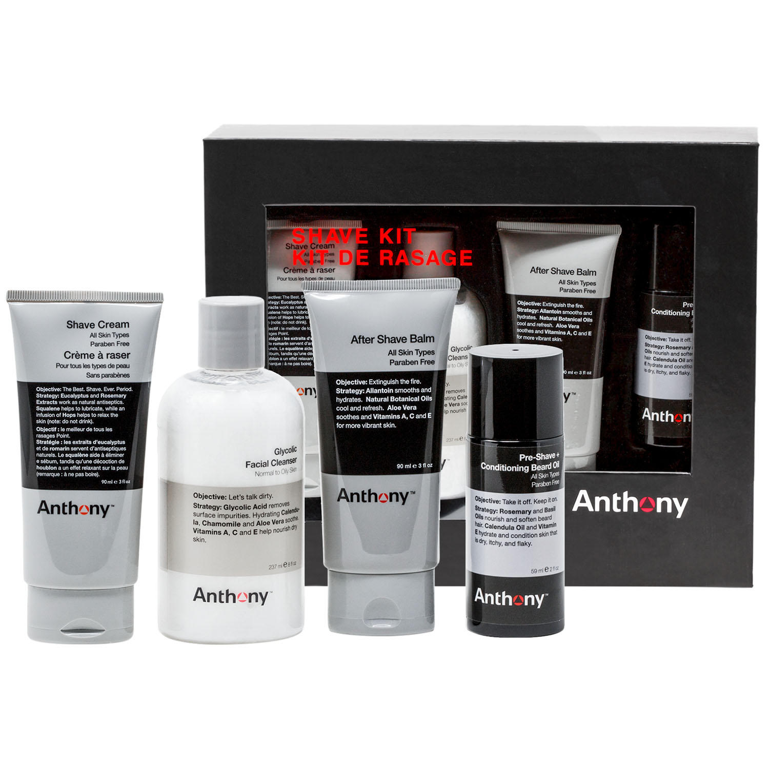 Anthony 4-Piece Shave Kit