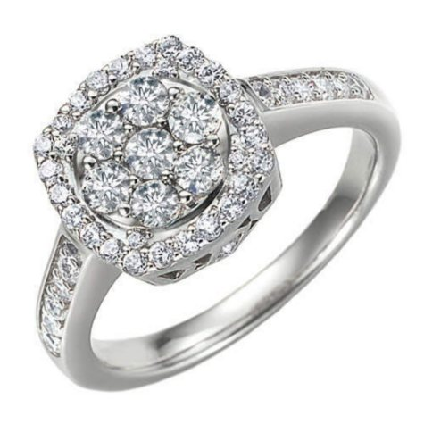 .96 ct. t.w. Ideal-Cut Diamond Ring (H, SI2)