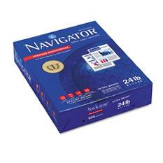 """Navigator - Premium Multipurpose Paper, 24lb, 99 Bright, 8-1/2 x 11"""" - Case"""