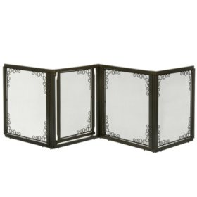 Richell Convertible Elite Mesh Pet Gate, 4 Panel