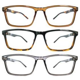 KEO Men's  Dillon Blue Light Filtering Glasses (3 pk.)