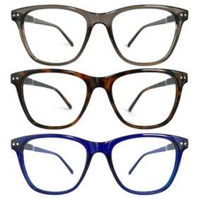 KEO Men's Bailey Blue Light Filtering Glasses (3 pk.)