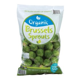 Organic Brussels Sprouts (2 lbs.)