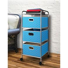 Bintopia Mini 3-Drawer Decorative Fabric Cart
