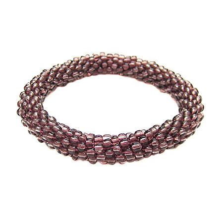 Beads of Hope Seed Bead Bracelet - Plum