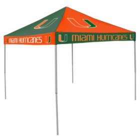 9x9 NCAA Miami Checkerboard Canopy