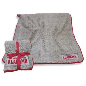"NCAA Frosty Fleece Sherpa Throw 50"" x 60"" (Assorted Teams)"