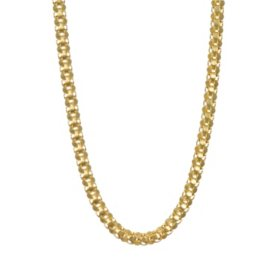 14k Yellow Gold Mirror Cut Popcorn Chain