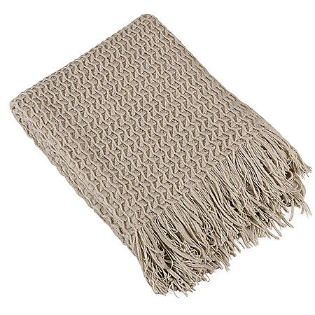 Brielle Home Winding Wave Knit Throw (Various Colors)