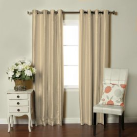 Brielle Faux Silk-Lined Insulated Room-Darkening Panel (Assorted Sizes and Colors)