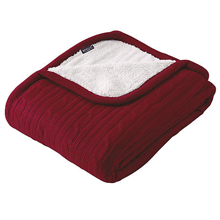 Brielle Cable-Knit Throw (Assorted Colors)