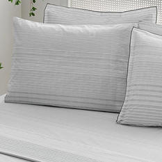 Brielle Stripes Duvet Cover Set with Extra Pillowcases