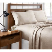Brielle Home Organic Cotton Heather Printed Sheet Set (Various Sizes and Colors)
