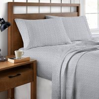 Brielle Home 300 Thread Count Printed Cotton Sateen Sheet Set (Various Sizes and Colors)
