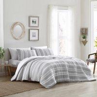 Brielle Home Quartz Lightweight Woven Striped Comforter Set (Assorted Sizes)