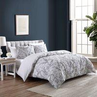 Brielle Home Farmington Grey Woven Floral Comforter Set (Assorted Sizes)