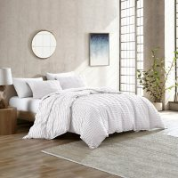 Brielle Home Mabel Solid Tufted Textured Comforter Set (Assorted Sizes and Colors)