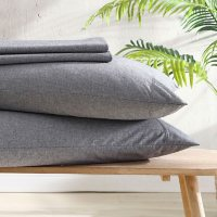 Reborn Recycled Fiber Solid Heather Sheet Set (Assorted Sizes and Colors)
