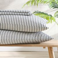 Brielle Home Recycled Fiber Striped Sheet Set (Assorted Sizes and Colors)
