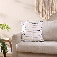 Brielle Home Fallon Blue/Grey Textured Decorative Throw Pillow