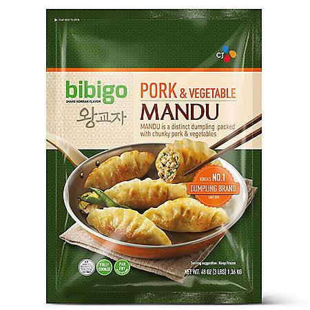 Bibigo Pork and Vegetable Mandu, Frozen (48 oz.)