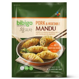 Bibigo Pork and Vegetable Mandu, Frozen (48 oz.)