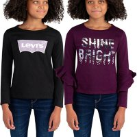 Levi's Girls' Long Sleeve Graphic T-Shirt 2-Pack