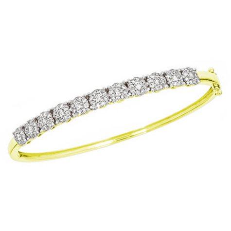 1.50 ct. t.w. Diamond Bangle Bracelet in 14K Yellow Gold (H-I, I1)